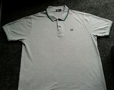 mens used fred perry polo shirt xxl grey