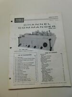 Jerrold Channel Commander Model Com Instruction Manual Vintage