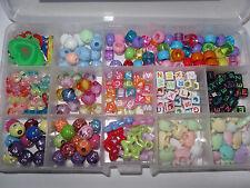 DIY Loom Beads + Charms * Box Set * ca. 300 * Perlen * Buchstaben *Neu * OVP