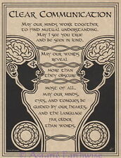 PRAYER FOR CLEAR COMMUNICATION POSTER A4 SIZE Wicca Pagan Witch BOOK OF SHADOWS