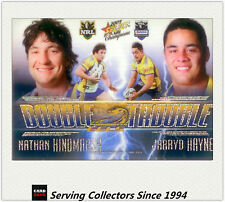 2009 Select NRL Champions Double Trouble Acetate Card DT3 Hindmash/Hayne-Rare