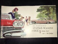 ORIGANAL 1960Dodge Motor Car company brochure-Station Wagons-Dart-Chrysler Corp