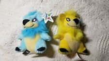 2004 Yellow and Blue Yurble NeoPets Plushie From McDonalds w/tag lot of 2