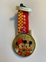 HKDL Mickey Football Club Ribbon Mickey And Minnie Disney Pin (B)