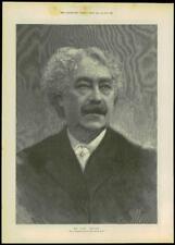 1893 Antique PORTRAIT Print - Simes Reeves Opera Tenor  (212)