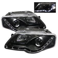 Volkswagen 06-08 Passat Black DRL LED Projector Headlights Daytime Running Light