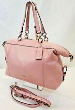 MW Coach F59325 Lenox Satchel Pink Pebble Leather Shoulder Bag Purse Tote EUC