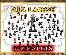 50 LARGE Miniatures PACK LOT - Dungeons & Dragons / Pathfinder, D&D Figures, RPG