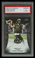 TREVOR LAWRENCE 2018 LEAF ALL-AMERICAN #55 1ST GRADED 10 ROOKIE CARD RC CLEMSON