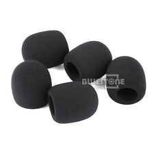 10pcs Pack Handheld Stage Microphone Grill Windscreen Foam Mic Cover 75x45 mm