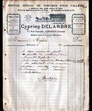 """AUBUSSON (23) SERVICE DEPECHE pour VALLIERE & DEMENAGEMENT """"Cyprien DELARBRE"""""""