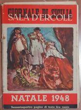 GIORNALE DI SICILIA NATALE 1948 BRIGANTI CRISPI OLIVETTI MARINA DI PALERMO LLOYD