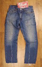 Levi's Strauss LVC Mid Blu RIPSAW cut-off 501 RARA CAMPIONE Chiusura Zip Jeans W32 L32