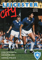 1982/83 Leicester City v Crystal Palace, Division 2 - PERFECT CONDITION