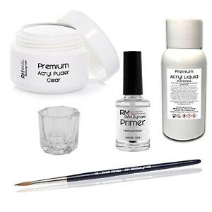Acryl Set Nagelset Pulver Puder Acrylliquid Primer Pinsel Testset Fingernagelset