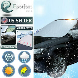 Car Truck Windshield Snow Cover Ice Frost Magnetic Tarp Flap Sun Shade Protector