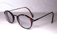 ZENNI Tortoise Shell & Dark Silver Leonard Round EYEGLASS FRAMES Eyeglasses 130