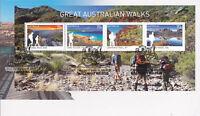 """2015 FDC. Great Australian Walks. M.S. """"Hiking Boots"""" PictFDI """"WALKAWAY"""""""
