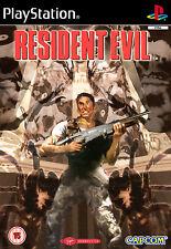 Juegos enmarcado impresión: Resident Evil 1 Playstation 1 edición (imagen Arte Cartel)