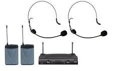 Brand New UHF Professional Dual Headset Wireless Headworn Microphone