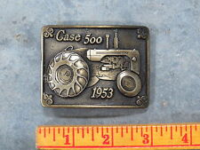 Vintage CASE 500 Tractor Belt Buckle 1953 Limited Edition SC Spec Cast Brass