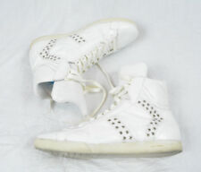 DIOR HOMME STRIP Hi-top White Leather Studded Sneakers Shoes Hedi Slimane 43 10