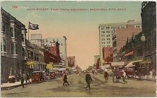 Main Street West From Broadway in Oklahoma City OK Postcard