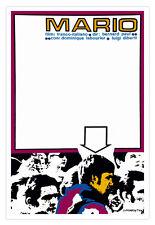 Movie Poster.MARIO.French Italian film.Graphic design.Home interior decoration.