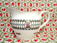 Antique VICTORIAN China VINTAGE Milk Jug ENAMELLED Floral HAND DECORATED Rare
