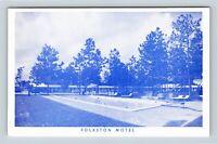 Folkston GA, Motel, Street View, Swimming Pool, Chrome Georgia Postcard
