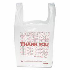 T-Shirt Thank You Plastic Grocery Shopping Carry Out Retail Bags 100 Bags/Pack