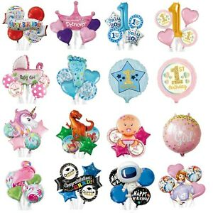 Set Baby Shower Boy Girl Decorations Balloon Party Kids Foil Birthday Balloons