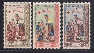 Laos   1963    Sc # 85-87   VLH   OG   (1-319)