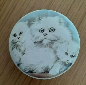 Staffordshire Bone China Trinket Box - Rings -Dressing Table - For The Cat Lover
