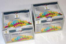 Panini WC WM BRASIL 2014 14 – 2 x BOX DISPLAY 200 TÜTEN PACKETS INT. ED. SILBER