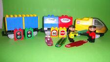 Lego Duplo Eisenbahn Intelli-E-Lok aus 3335,2 Waggons,2 Lokführer,4Codesteine,..