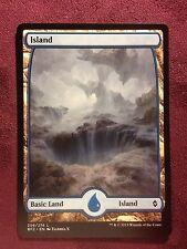 Battle for Zendikar Full Art Land  Island #259  VO  -  MTG Magic (Mint/NM)