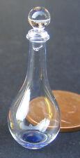 Decantador de cristal Escala 1:12 con una base Azul Casa De Muñecas Beber Accesorio GDI