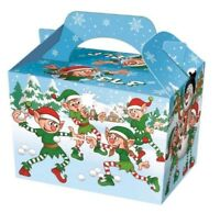 10 ELF ELVES PARTY FOOD BOXES BOX CHRISTMAS NEW YEAR~FREE PP UK