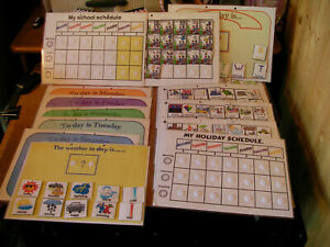 holiday/school schedule planner/daily/weekly planning