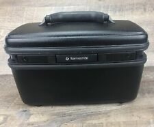 Vintage Samsonite Black Acclaim Make-up Beauty Train Case w/ Tray and Mirror