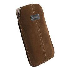 Étuis, housses et coques marrons en daim pour téléphone mobile et assistant personnel (PDA)