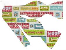 Lucky Dog Bow tie / Funny Phrases / Veterinarians / Groomers / Self-tie Bow tie