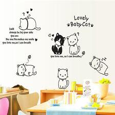 Hot bezaubernd Katze Muster Sticker Möbel Kühlschrank Glas Wandaufkleber aus PVC