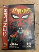 Spider-Man (Sega Genesis, 1994) TESTED FAST SAME DAY SHIP *READ DESC*