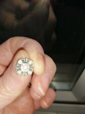 3/4ct Blue And White Diamond Earrings
