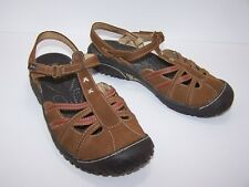 JAMBU Sandals Womens All Terrain Shoes Size 6 Brown Leather T Strap