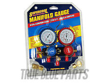 SuperCool R-134a Manifold Gauge Kit Aluminum Gauge With 6 FT. Hoses & Couplers