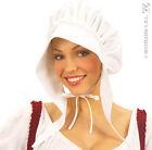 GORRO Blanco Sirvienta Disfraz Mujer lechería campesina Medieval
