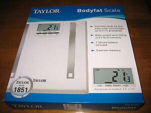 NIB Taylor Bodyfat Scale Model 5768FA White.